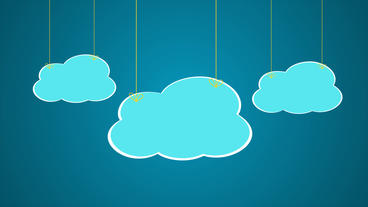 Wire cartoon Clouds pop up After Effects Project