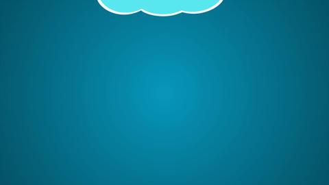Wire cartoon Clouds pop up - 1