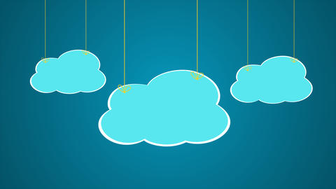 Wire cartoon Clouds pop up After Effects Template