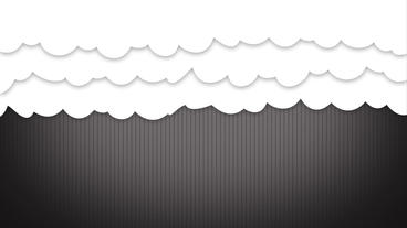 White cartoon Clouds curtain opening up After Effects Project