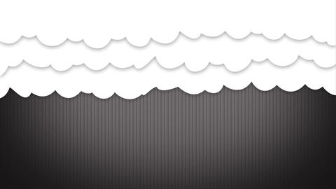 White cartoon Clouds curtain opening up After Effects Template