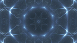 Fractal blue kaleidoscopic background Animation