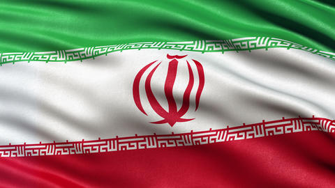 4K Iran flag seamless loop Ultra-HD Animation