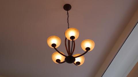 Dim light chandelier Footage