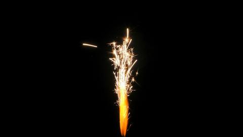 sparkle rocket Footage