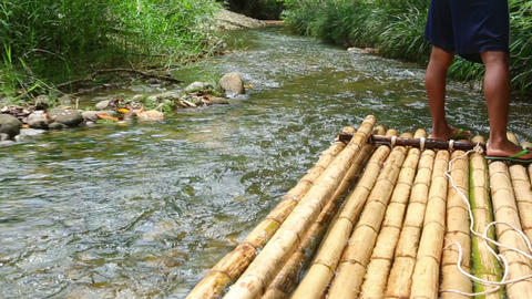 Bamboo rafting in Khao Lak Footage