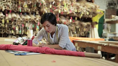 Fashion designer at work Stock Video Footage