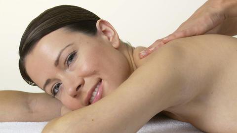 Woman having a massage Live Action