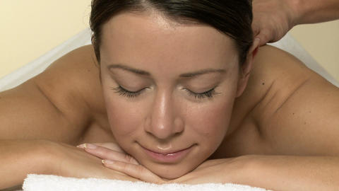 Woman having a massage Stock Video Footage