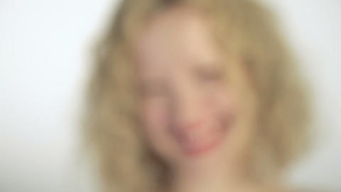 Young woman laughing, close up Stock Video Footage