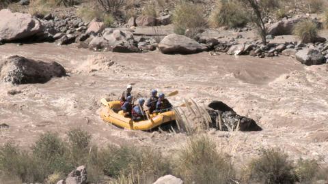 White water rafting and kayaking Stock Video Footage