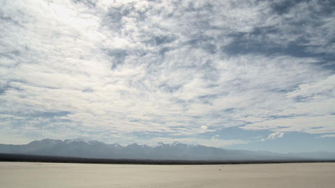 Salt pan at el leoncito national park in northern argentina Stock Video Footage