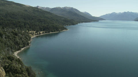 Lake in bariloche area of argentina Stock Video Footage