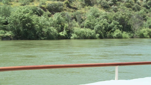 Senior couple enjoying a glass of wine on a boat holiday Stock Video Footage