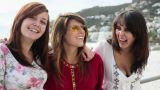 Three girls laughing Footage