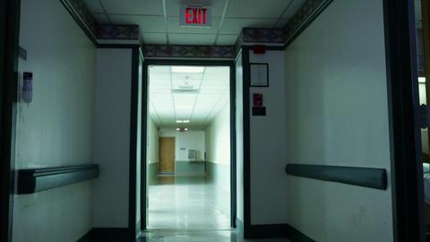 Empty hospital corridor Stock Video Footage