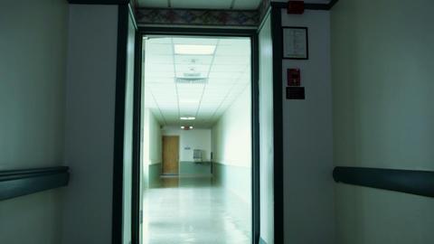 Empty hospital corridor Footage