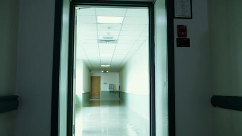 Empty hospital corridor Stock Video Footage
