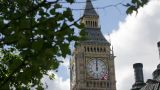 Big Ben Clock Tower, Westminster, London stock footage