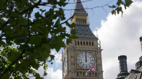 Big Ben clock tower, Westminster, London Stock Video Footage