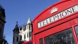 Red telephone box, London Footage