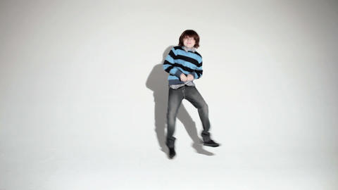 Boy doing a silly dance Stock Video Footage