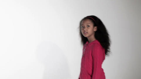 Girl coming close up to camera Stock Video Footage