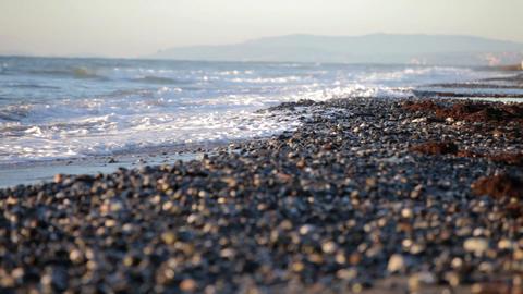 Pebble beach, Marbella, Spain Stock Video Footage