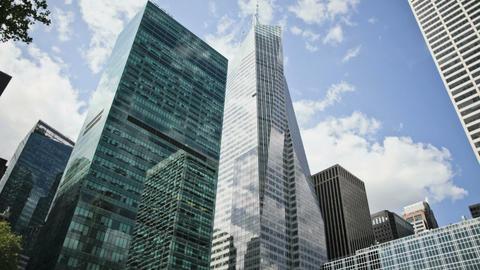 Midtown Manhattan skyscrapers, New York City, New York, USA Stock Video Footage