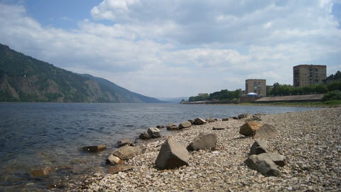 Town Divnogorsk on the River Yenisei Footage
