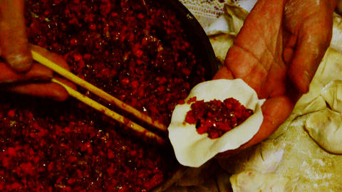 make dumplings,tradition chinese new year delicious food Stock Video Footage