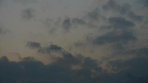 clouds cover sky Stock Video Footage