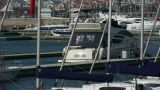 Yacht on the water at Pier of QingDao city Olympic Sailing Center,tsingtao Footage