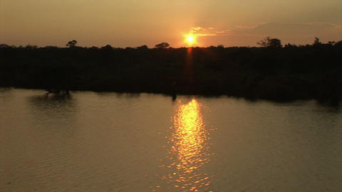 Brazil: travel on Amazon river 1 Stock Video Footage