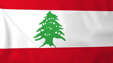 Flag of Lebanon Animation