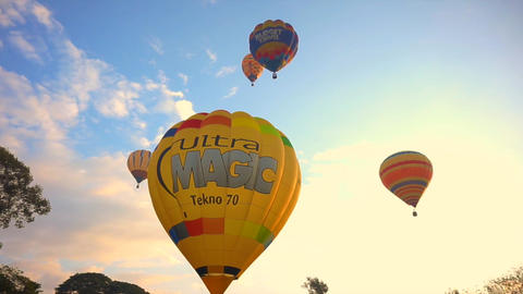 Chiang Mai, Thailand - November 2014- Hot Air Balloon, International Balloon Fes Live Action