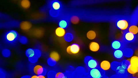 Magical Christmas light blur circles Background depth Footage