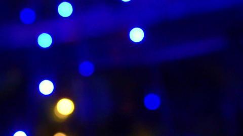 Magical Christmas light blur circles Background depth Footage