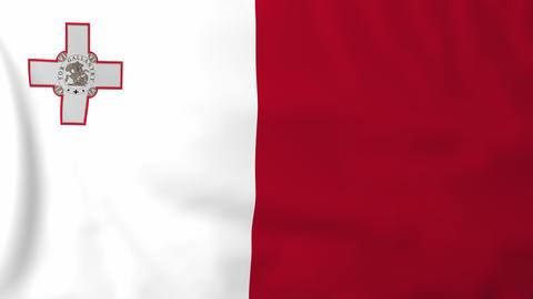 Flag of Malta Animation