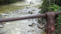 Hanging Bridge Tilt Up Footage