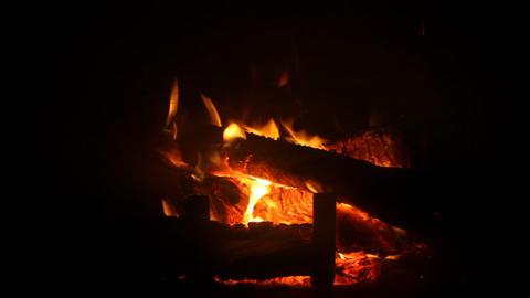 Fire in fireplace Footage