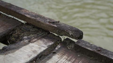 Hanging Bridge Old Deck Pan Footage