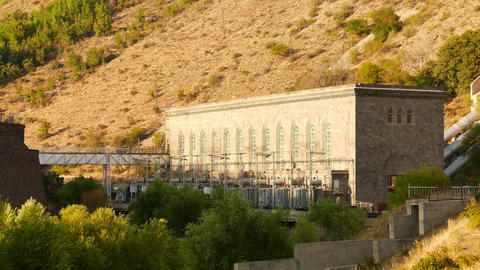 Hydropower Station on the Hillside Footage