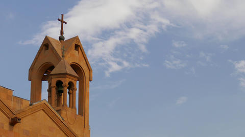 Middle Eastern Church Timelapse stock footage