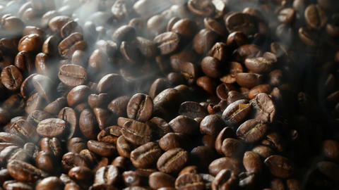 roasting coffee beans Footage