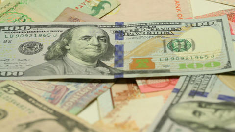 Paper money of different countries Footage