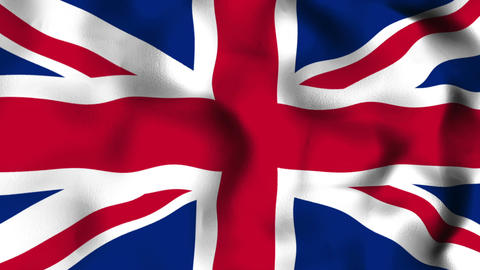 Flag Great Britain Seamless Looped Background Animation