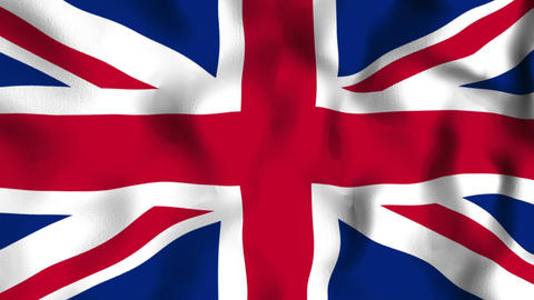 Flag Great Britain Seamless Looped Background Stock Video Footage
