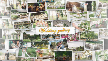 Wedding Wall Gallery – After Effects Template After Effectsテンプレート