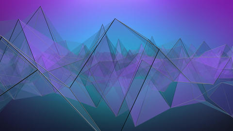 Abstract Geometric Looping Background stock footage